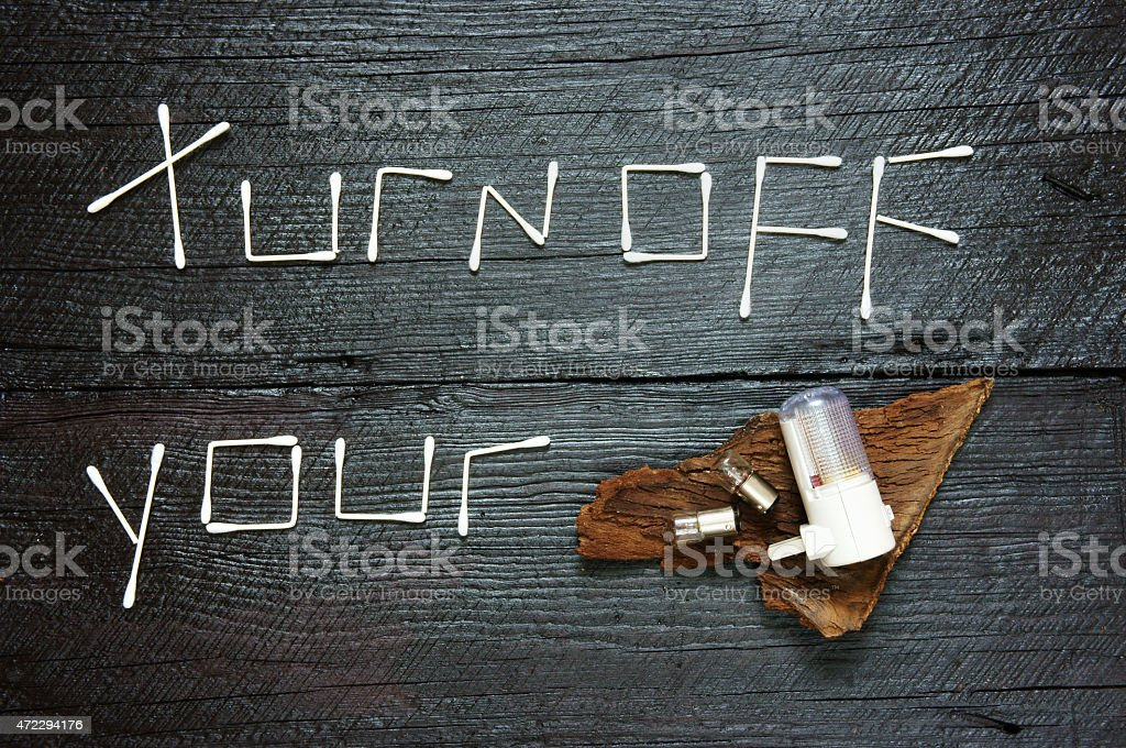 Earth hour, turn off, 60 minute stock photo