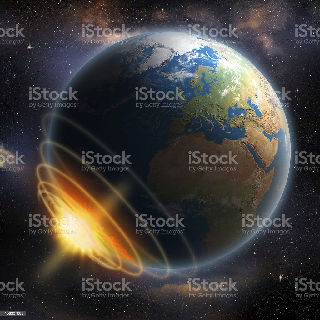 Earth Impact royalty-free stock photo