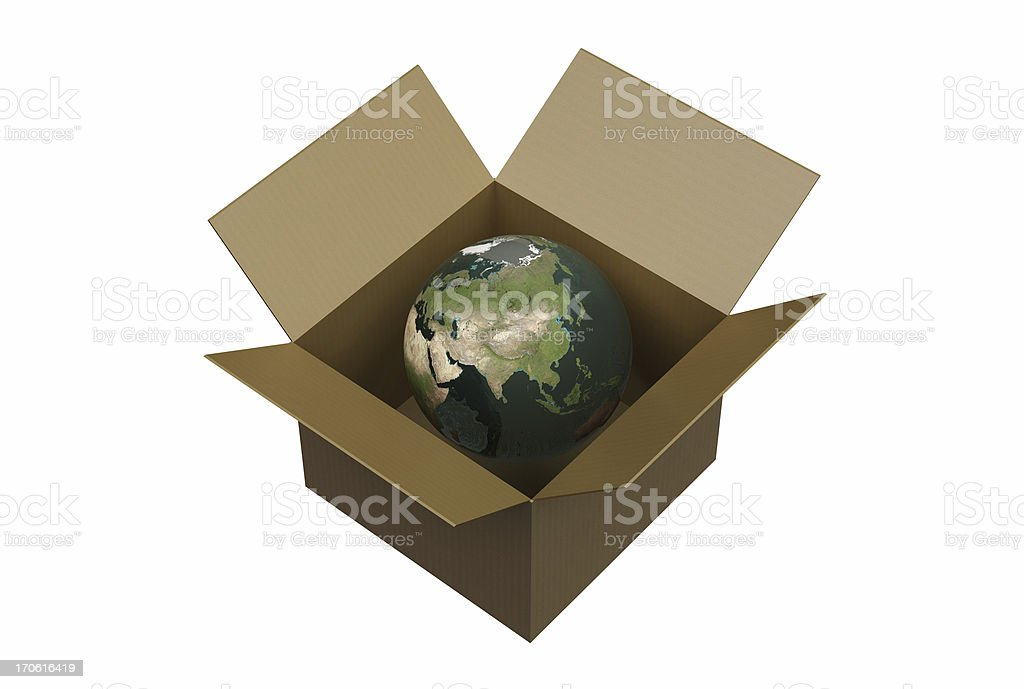 Earth in a Box / XXL royalty-free stock photo