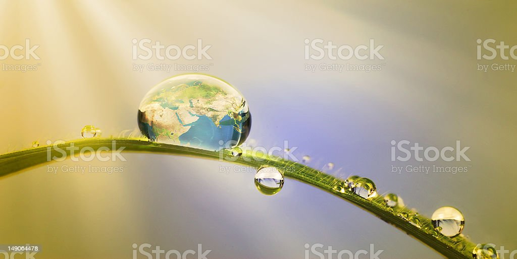 earth in a drop       (© Lobke Peers) royalty-free stock photo
