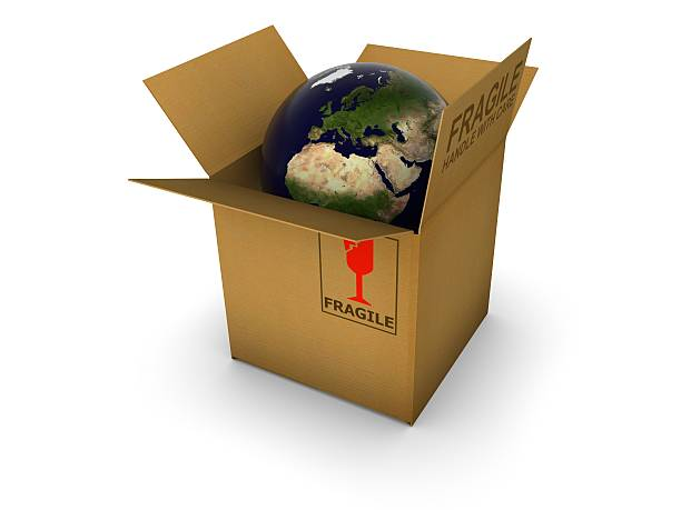Earth in box  antipollution stock pictures, royalty-free photos & images