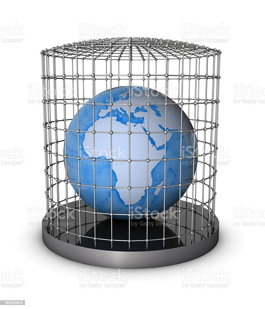 Earth in Cage royalty-free stock photo