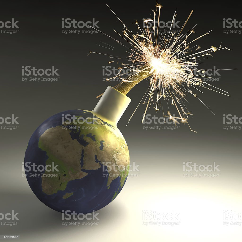 Earth in Danger royalty-free stock photo
