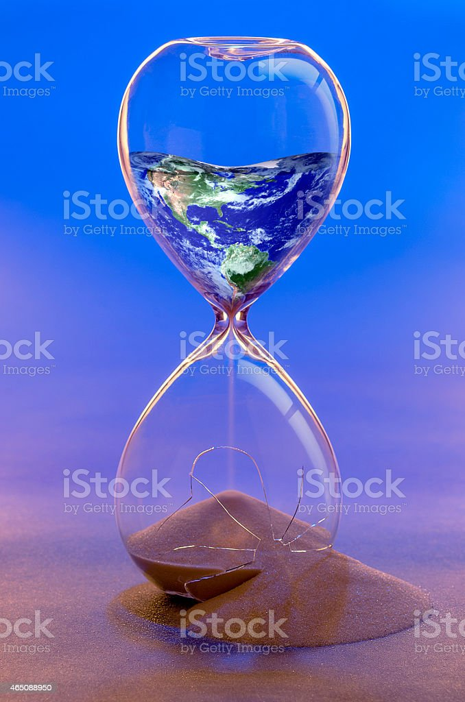 Earth in Hourglass stock photo