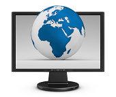 earth in monitor