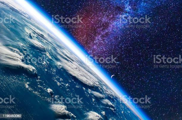 Photo of Earth in space. Elements of this image furnished by NASA.