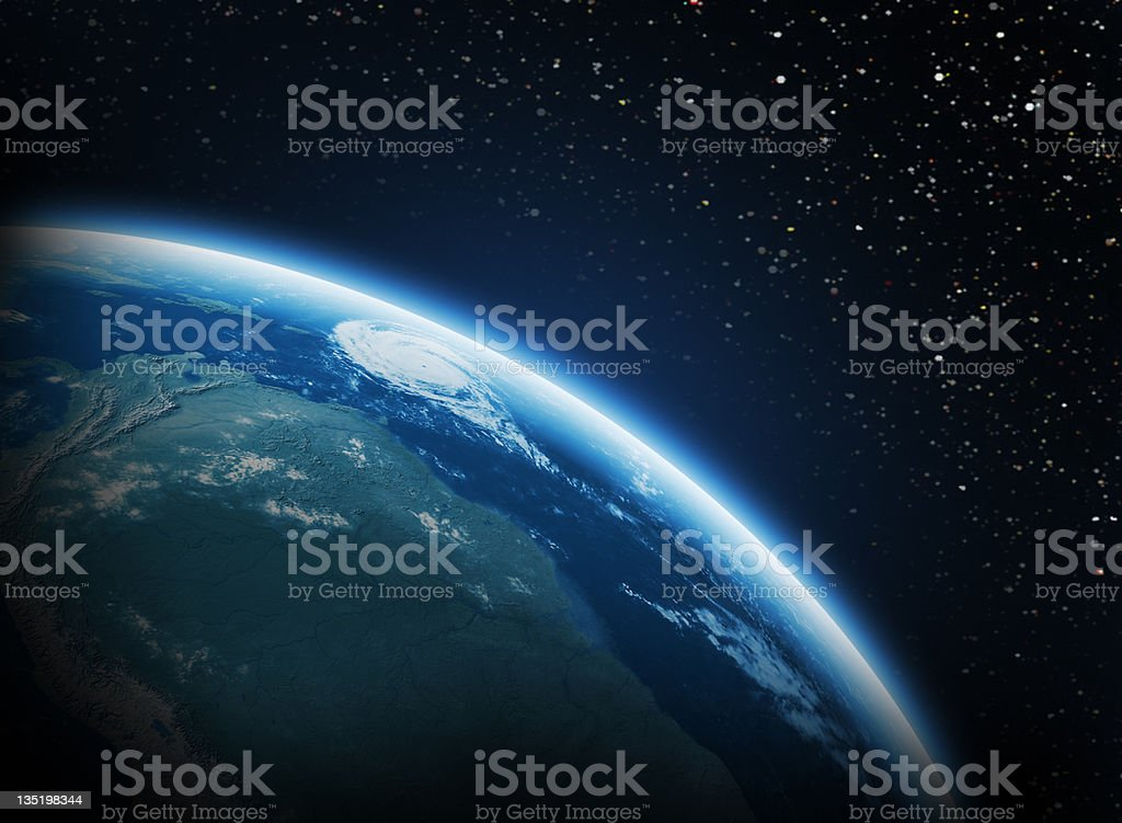 Earth in space stock photo