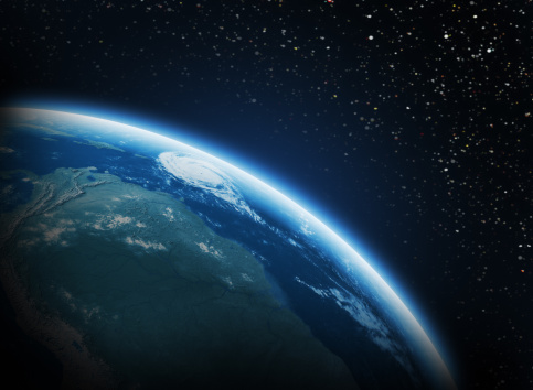 Earth In Space Stock Photo - Download Image Now