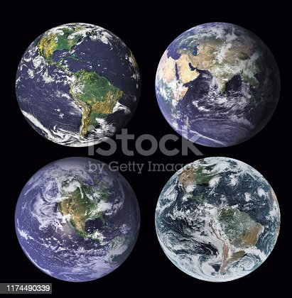 istock Earth in the outer space. Elements of this image furnished by NASA 1174490339