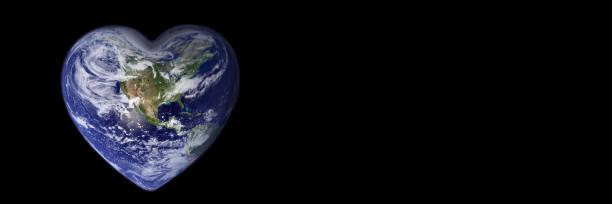 Erde in Form eines Herz-, Ökologie- und Umweltkonzepts - Elemente dieses Bildes werden von der NASA eingerichtet – Foto