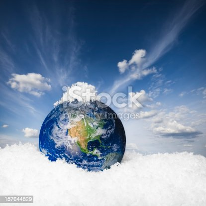istock Earth in the snow 157644829