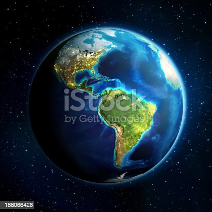 istock earth in the space - America 188066426