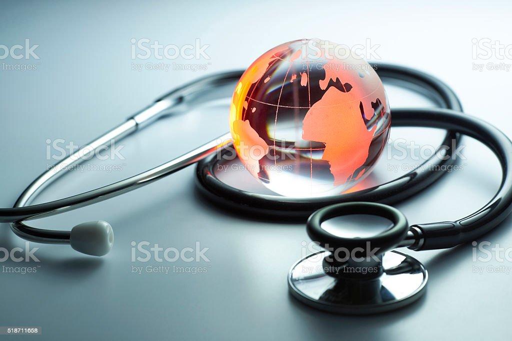 Earth is sick stock photo