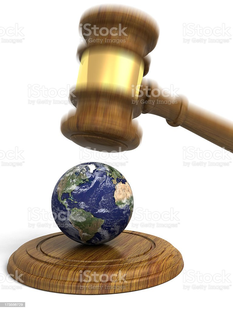 Earth Justice royalty-free stock photo