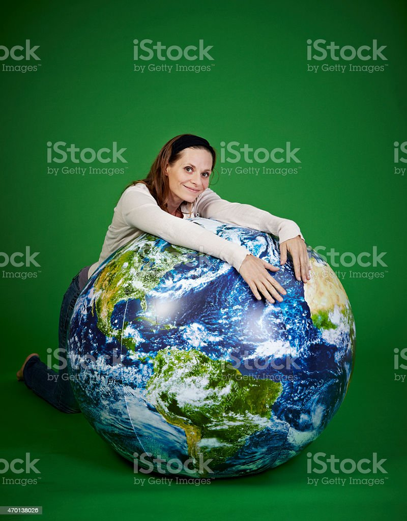 Earth keeper stock photo