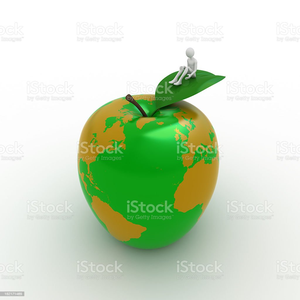 Earth like apple stock photo