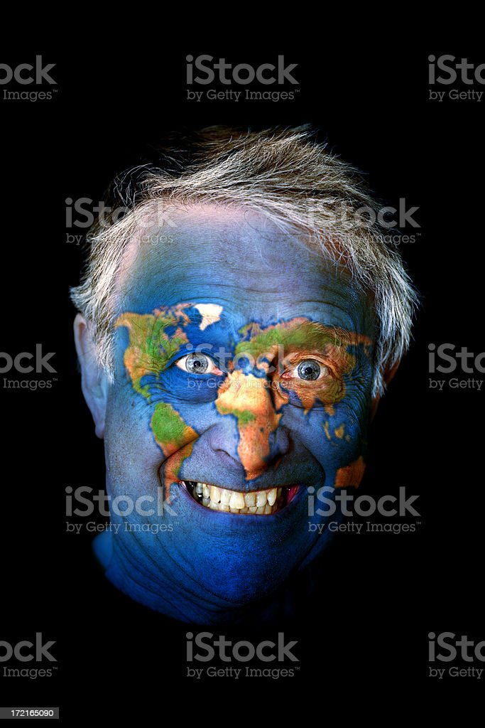 earth man its a mad world royalty free stock photo