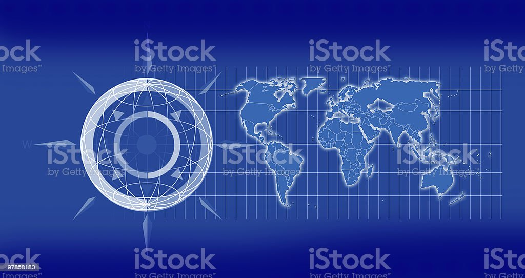 Earth Map royalty-free stock photo