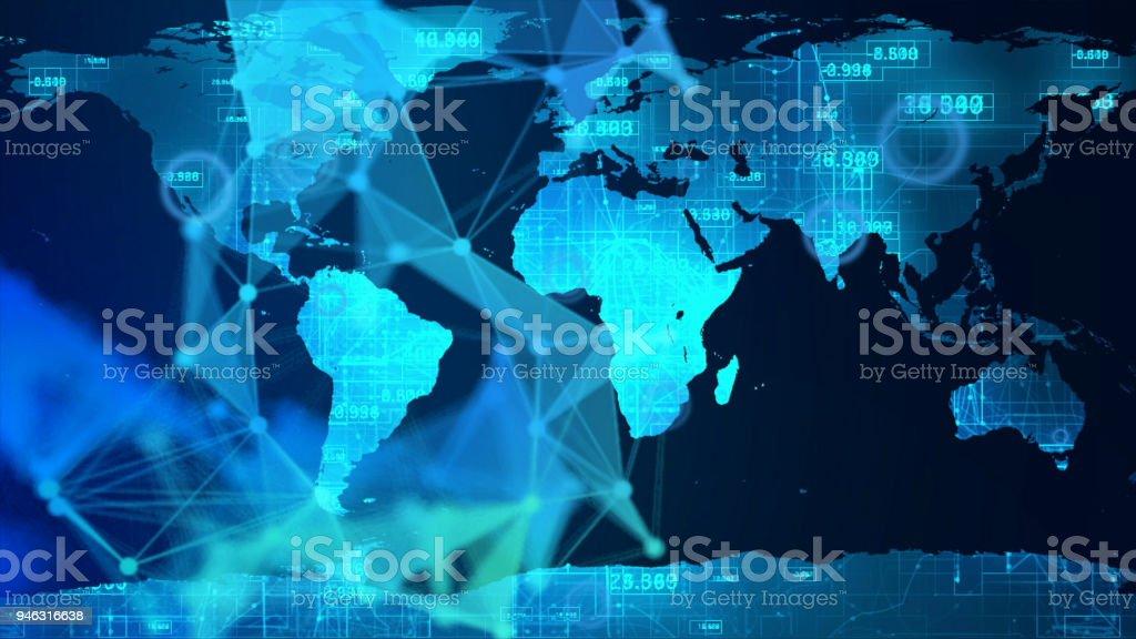 Terra mapa tecnologia abstrato - foto de acervo