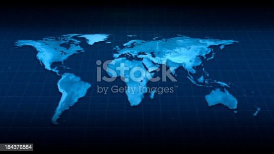 istock Earth Map top view 184376584