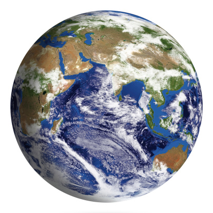 186019678 istock photo Earth Model: Asia View isolated on white 180703914