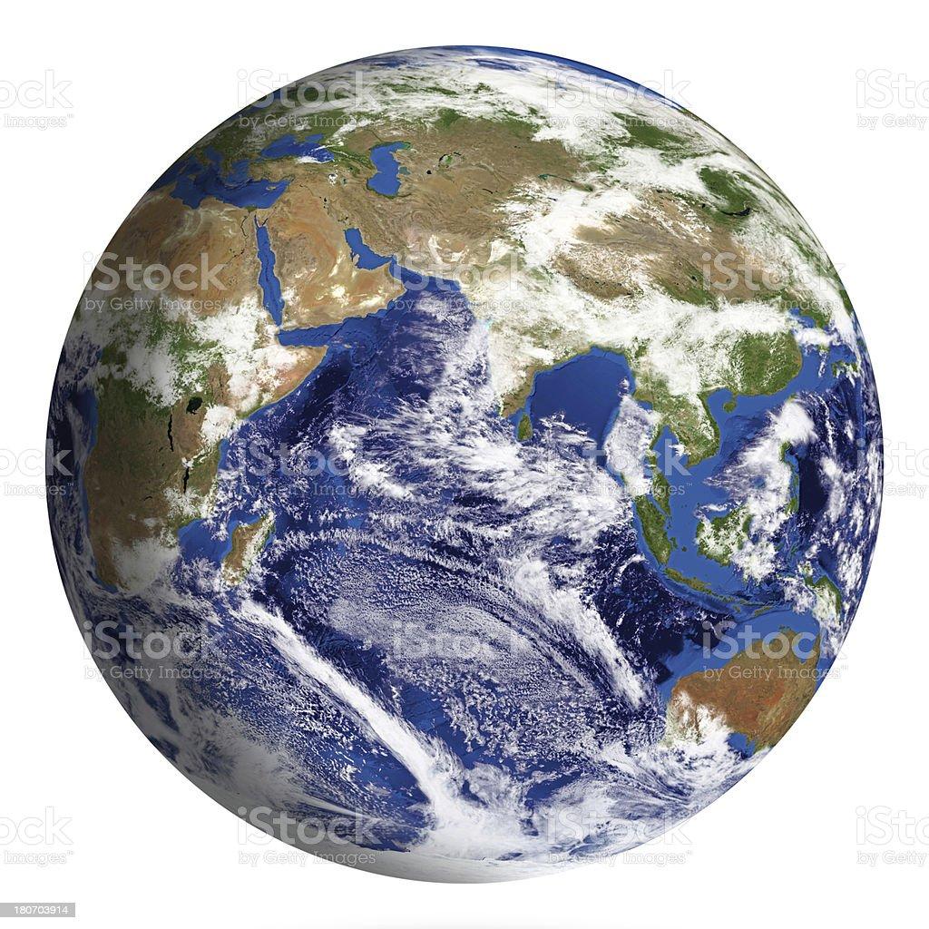 Modelo de tierra: Asia vista aislado sobre blanco - foto de stock