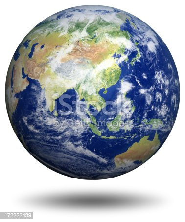 538675410istockphoto Earth Model: Asia View 172222439