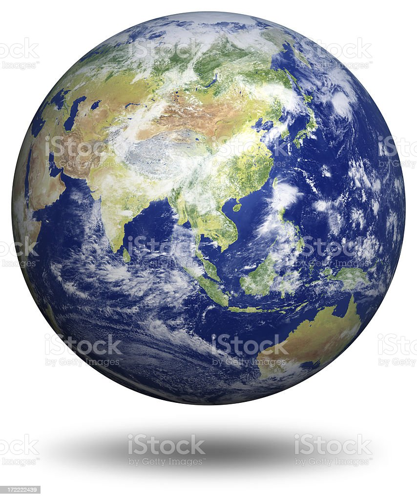 Earth Model: Asia View stock photo