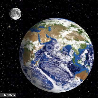 186019678istockphoto Earth Model: Asia View with space in background 180715949