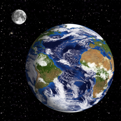 186019678 istock photo Earth Model: Atlantic Ocean View with space in background 180719367