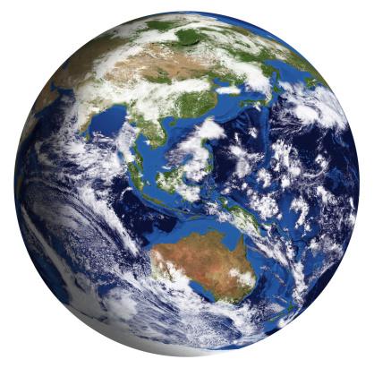 186019678 istock photo Earth Model: Australia View isolated on white 180712483