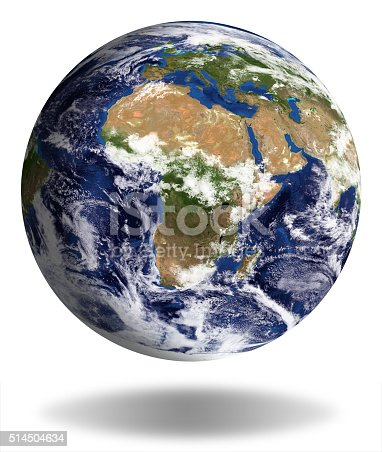 186020817istockphoto Earth Model: Europa and Africa View isolated on white 514504634