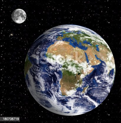 186019678istockphoto Earth Model: Europa and Africa View, Space in background 180708719