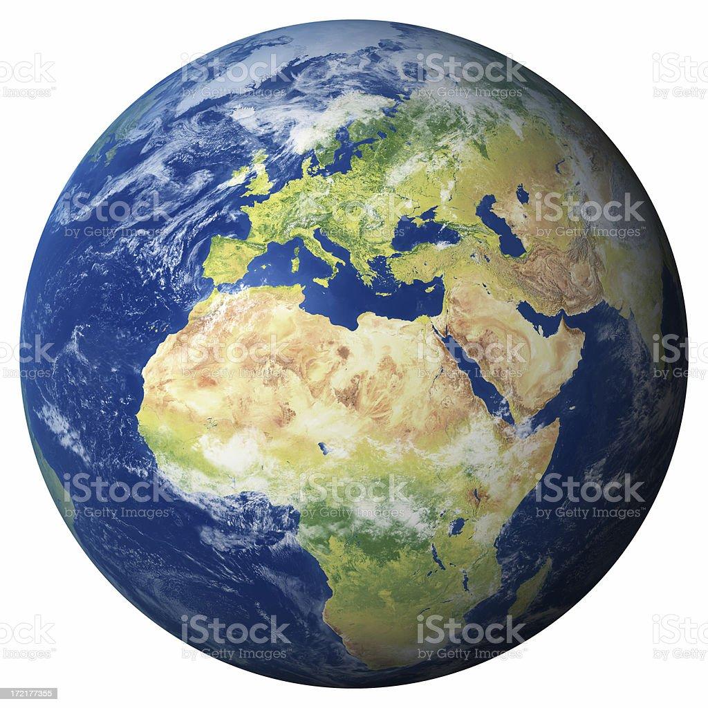 Erde Modell: Europa anzeigen - Lizenzfrei Abstrakt Stock-Foto