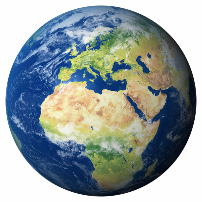 istock Earth Model: Europe View 172177355