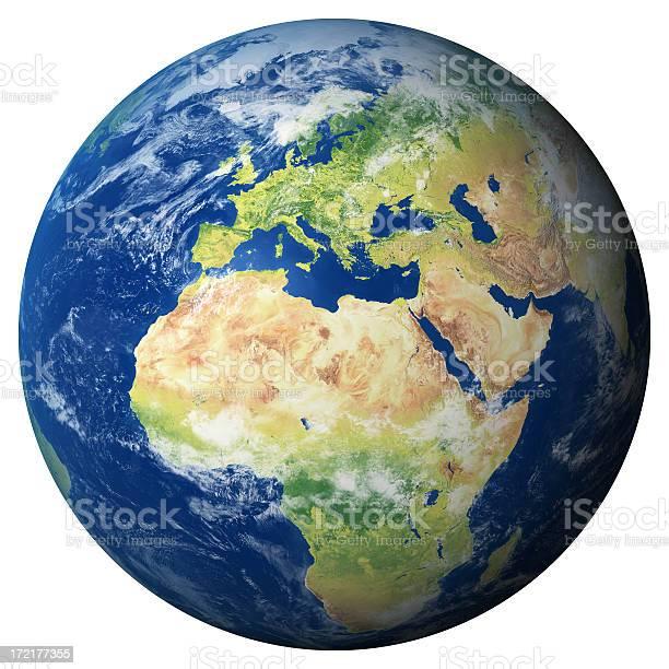 Erde Modell Europa Anzeigen Stockfoto und mehr Bilder von Abstrakt