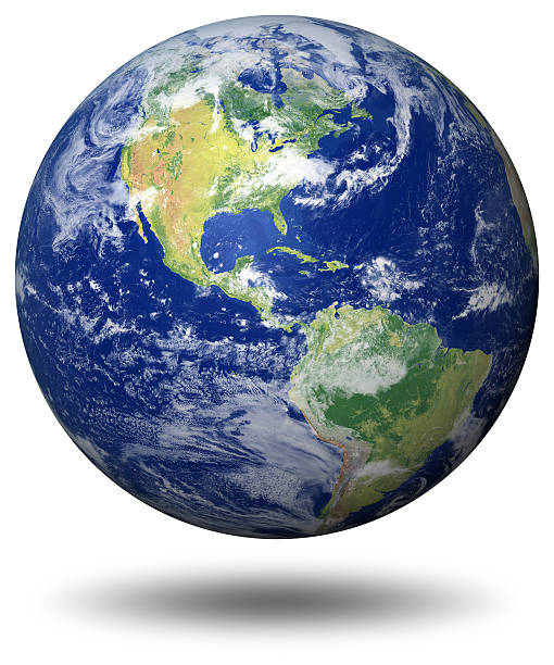 earth model: usa view - earth stock pictures, royalty-free photos & images