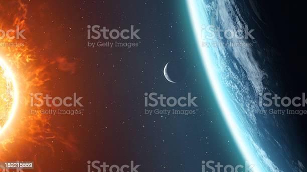 Photo of Earth Moon and Sun