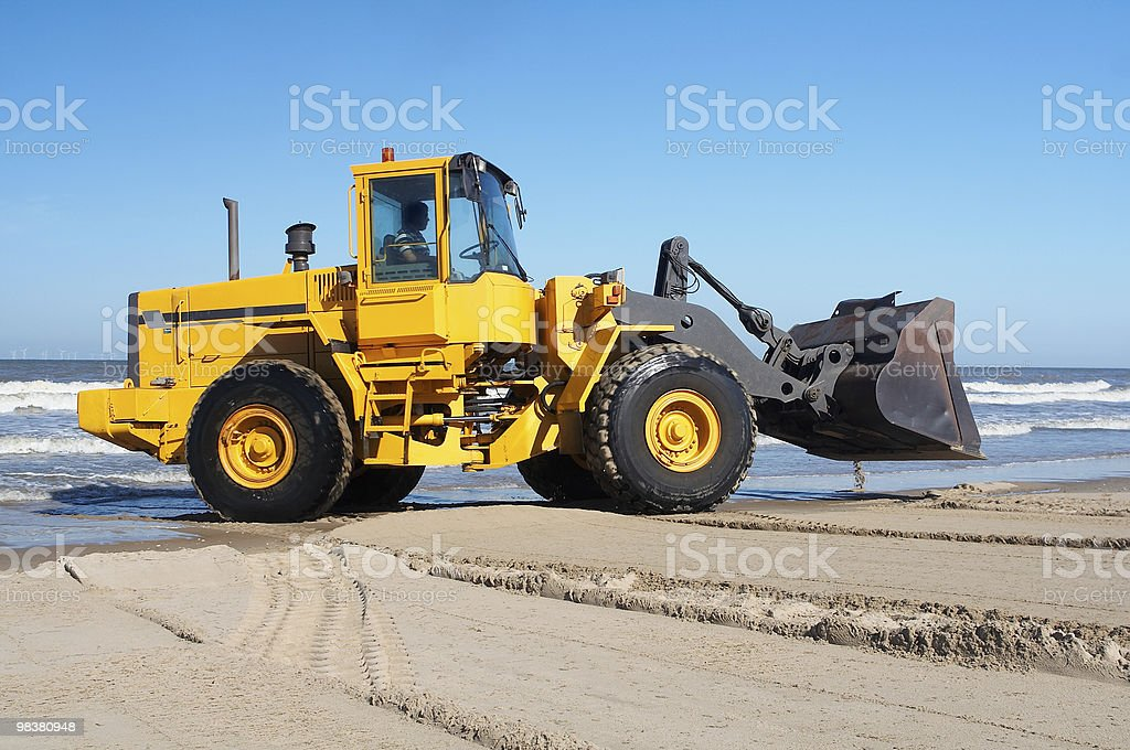 Earth mover at sea royalty-free stock photo