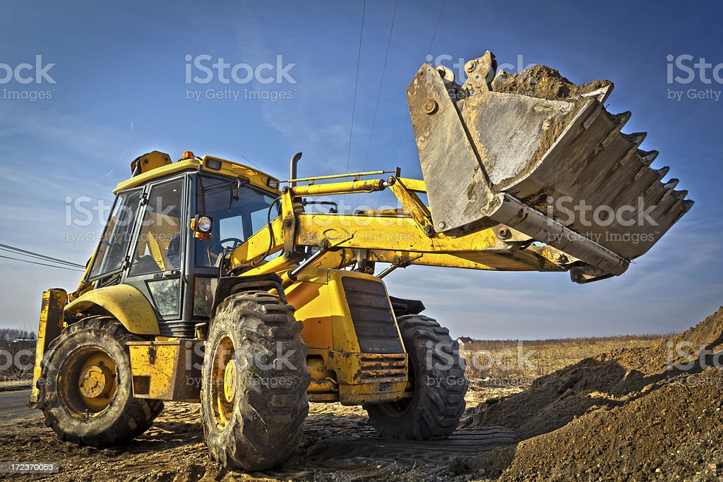 Earth Mover at work stock photo