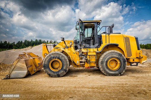 Earth mover in a new highway construction S3,Legnica, Poland