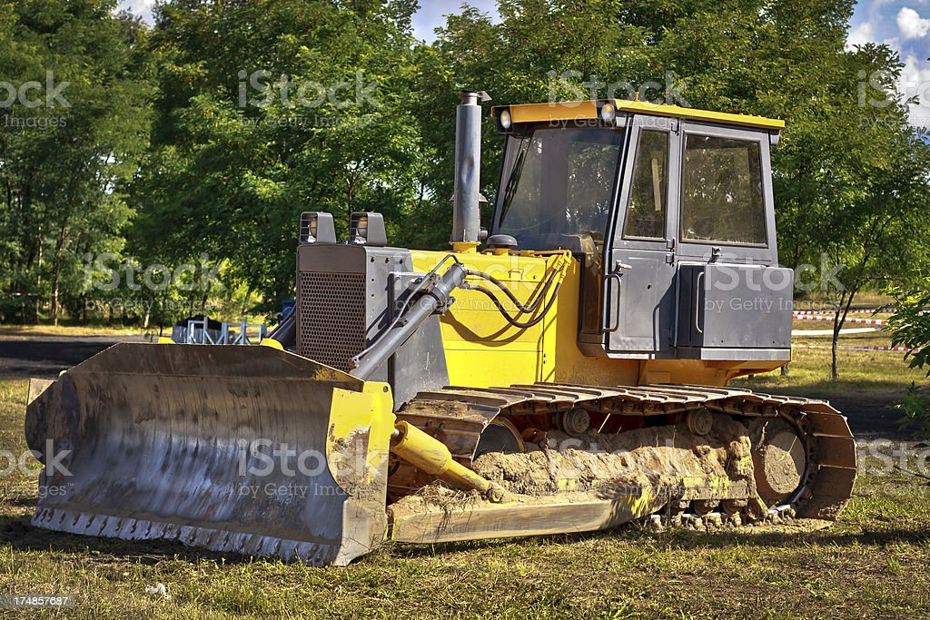 Earth Mover in a new road construction royalty-free stock photo