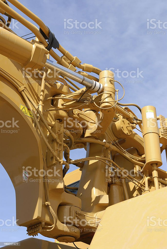Earth Mover Joint Detail royalty-free stock photo