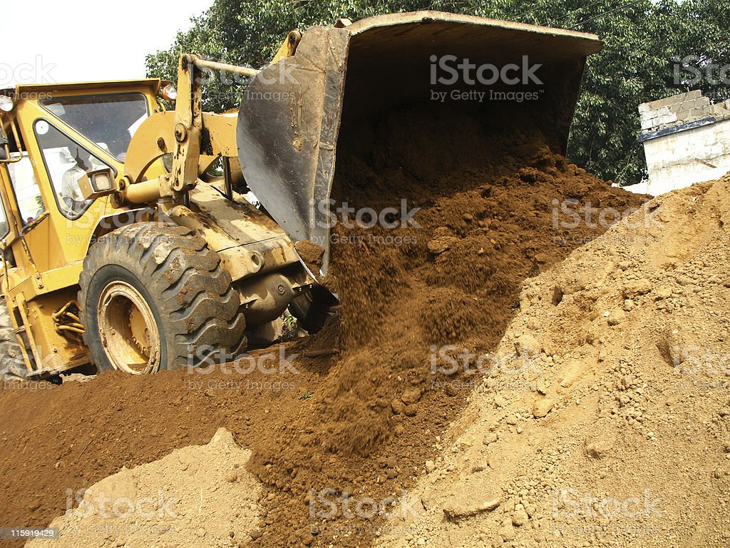 Earth mover royalty-free stock photo