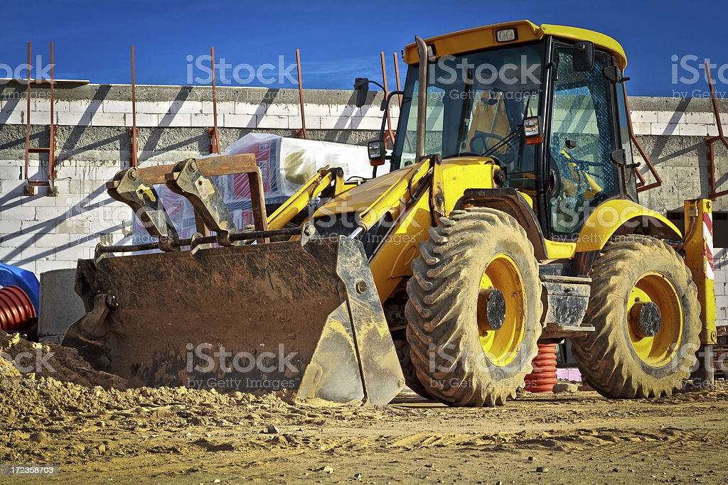 Earth Mover working on a construction site royalty-free stock photo