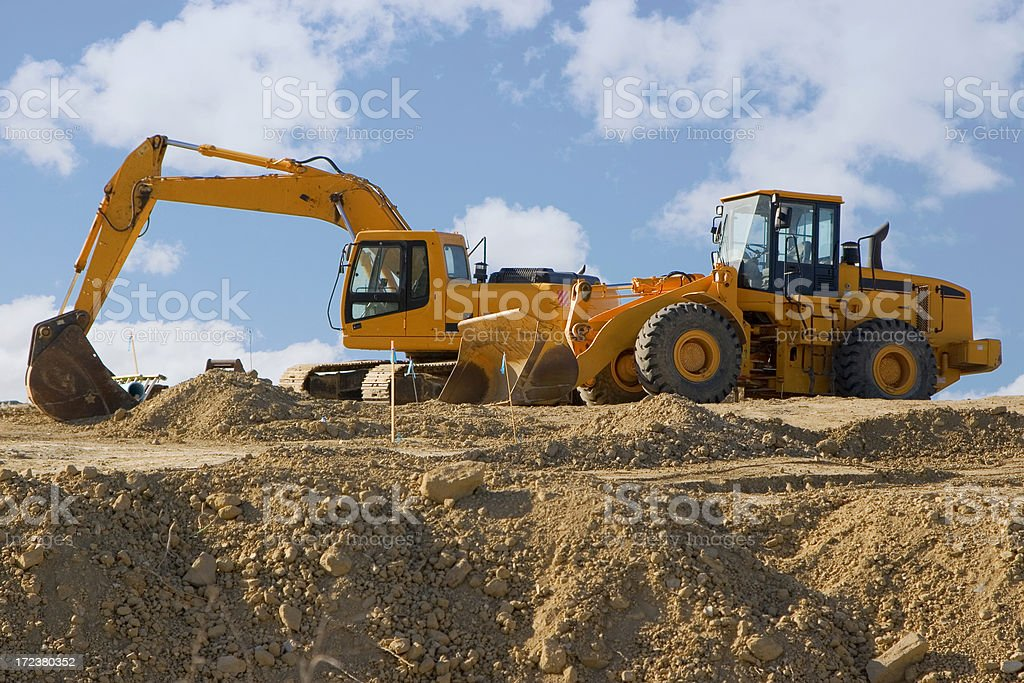 earth movers stock photo