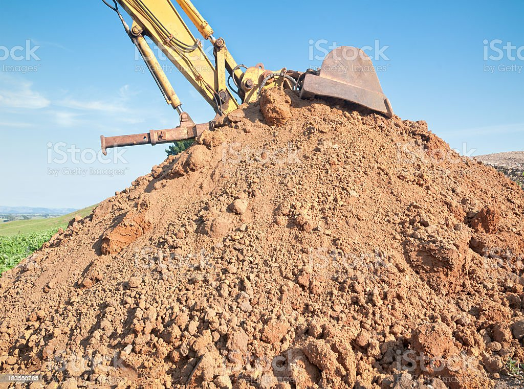 Earth Moving Job Done stock photo