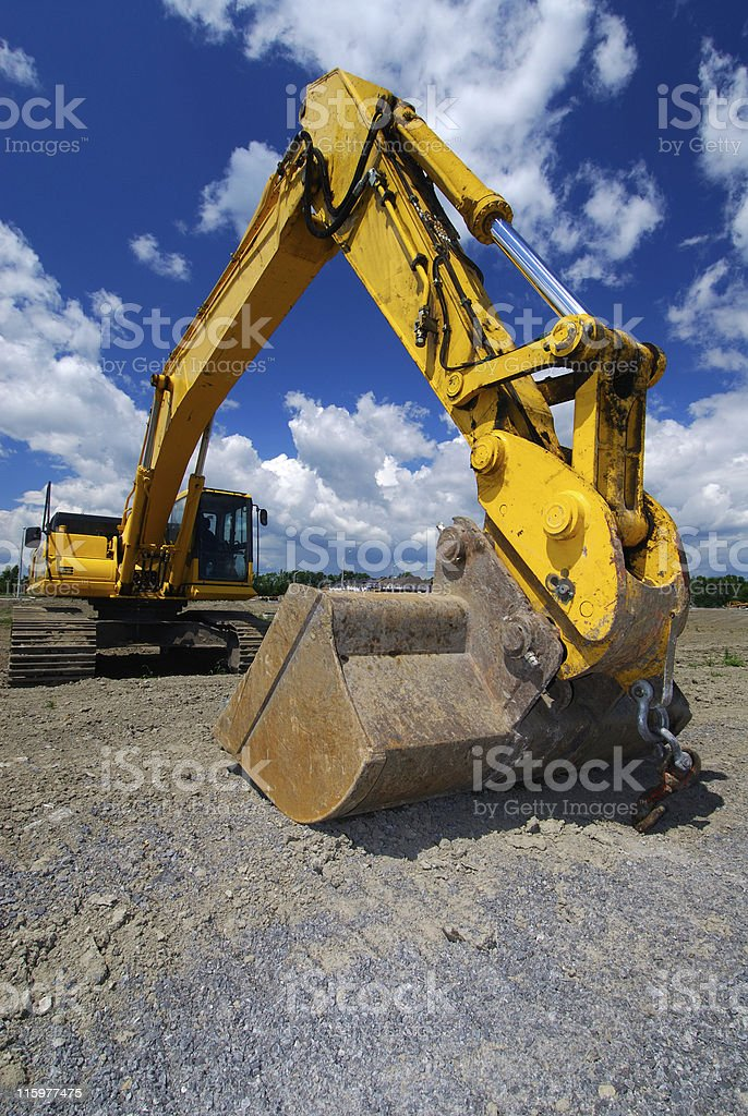 Earth Moving Machine royalty-free stock photo