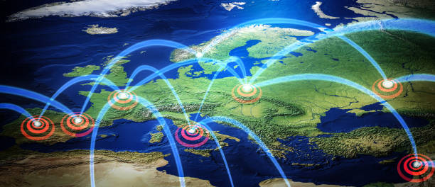 Earth Network stock photo