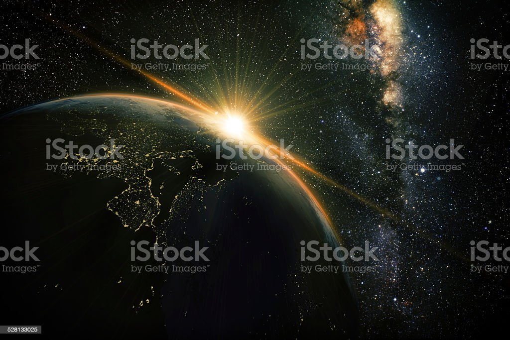 earth night stock photo